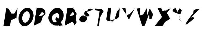 Ampere SuperCondensed Italic Font UPPERCASE