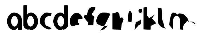 Ampere SuperCondensed Font LOWERCASE