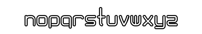 AmplitudesHollowDigital Font LOWERCASE