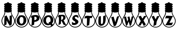 Ampoule Heavy Font UPPERCASE