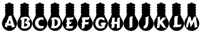 Ampoule Heavy Font LOWERCASE