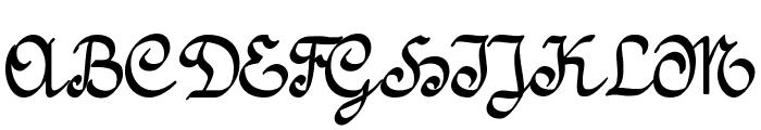 Amptmann Script Font UPPERCASE