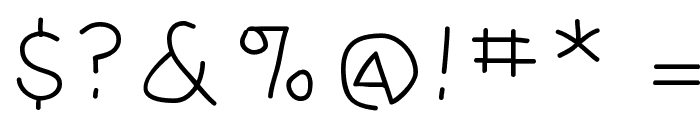 Amputation Font OTHER CHARS