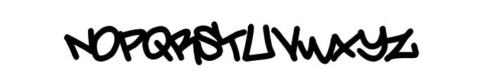 Amsterdam Graffiti Font UPPERCASE