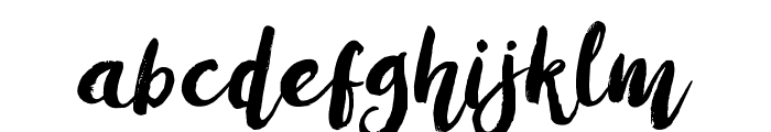 AmulhedDemo Font LOWERCASE