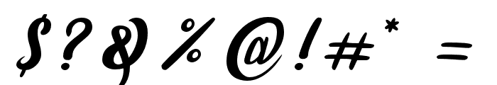 amaranthinedemo Font OTHER CHARS