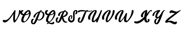 amaranthinedemo Font UPPERCASE