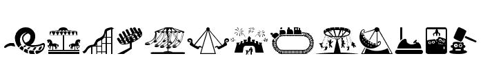 amusement park Font UPPERCASE