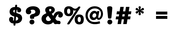 American Typewriter Bold Font OTHER CHARS