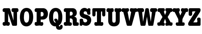 American Typewriter Condensed Bold Font UPPERCASE