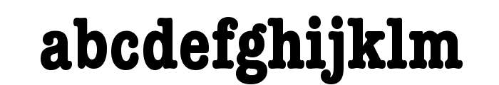 American Typewriter Condensed Bold Font LOWERCASE