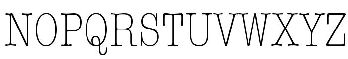 American Typewriter Condensed Light Font UPPERCASE