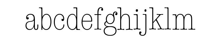 American Typewriter Condensed Light Font LOWERCASE