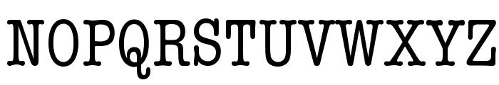 American Typewriter Condensed Font UPPERCASE
