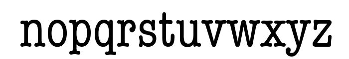 American Typewriter Condensed Font LOWERCASE