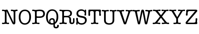 American Typewriter Font UPPERCASE