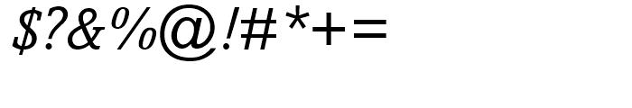 Amasis Italic Font OTHER CHARS