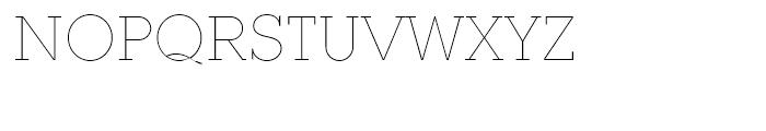 Ambassador Plus Slab Thin Font UPPERCASE