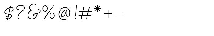 Amelie Regular Font OTHER CHARS