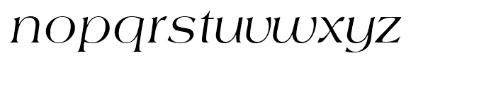 Americana Regular Italic Font LOWERCASE