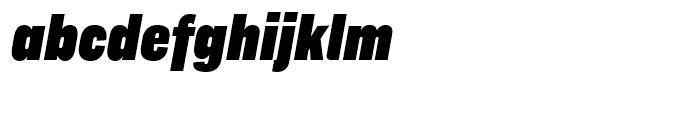 Americane Condensed Black Italic Font LOWERCASE