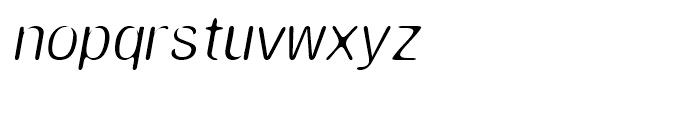 Amnesia Light Oblique Font LOWERCASE