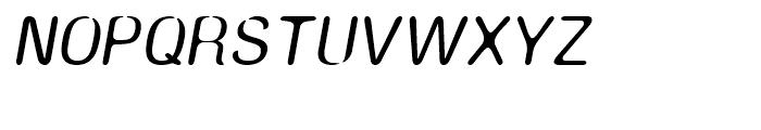 Amnesia Medium Oblique Font UPPERCASE