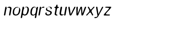 Amnesia Medium Oblique Font LOWERCASE