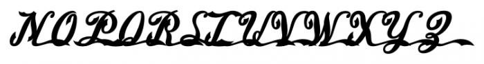 American Pop One Regular Font UPPERCASE