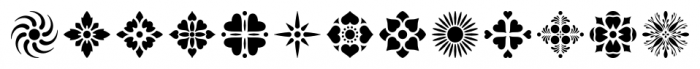 Americana Ornaments Regular Font LOWERCASE