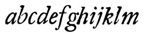 Americanus Pro Italic Font LOWERCASE