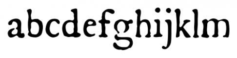 Americanus Pro Regular Font LOWERCASE