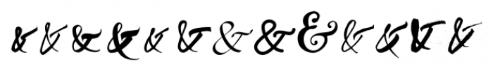 Ampersanders Regular Font UPPERCASE