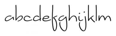 Amy Regular Font LOWERCASE