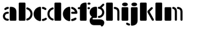 Am Beauty Stencil Font LOWERCASE
