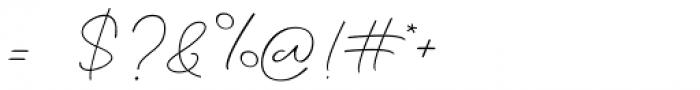 Amalina Script Regular Font OTHER CHARS