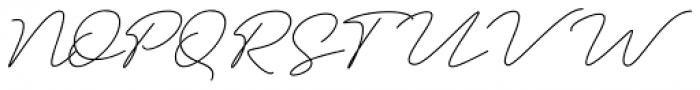 Amalina Script Regular Font UPPERCASE