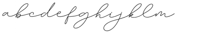 Amalina Script Regular Font LOWERCASE