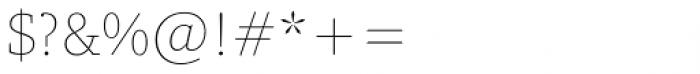 Amariya Thin Font OTHER CHARS