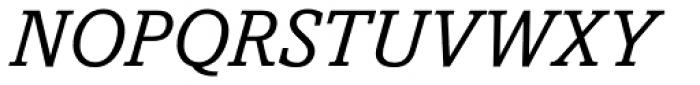 Amasis eText Italic Font UPPERCASE
