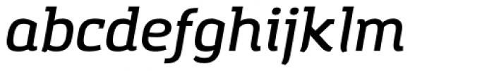 Amazing Grotesk Demi Bold Italic Font LOWERCASE