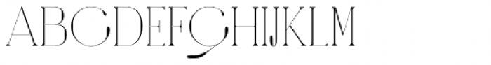 Amberday Extra Light Font UPPERCASE