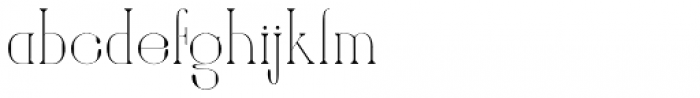 Amberday Extra Light Font LOWERCASE