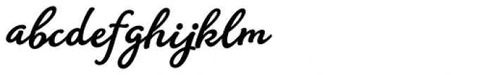 Amberly Heavy Font LOWERCASE