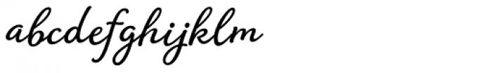 Amberly Medium Font LOWERCASE