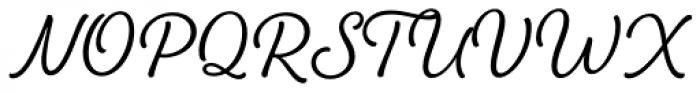 Amberly Regular Font UPPERCASE