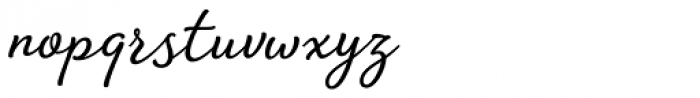 Amberly Regular Font LOWERCASE