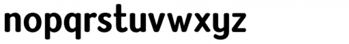 Amberly Sans Bold Font LOWERCASE
