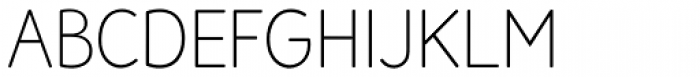 Amberly Sans Thin Font UPPERCASE