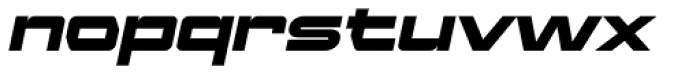 Ambex Heavy Oblique Font LOWERCASE